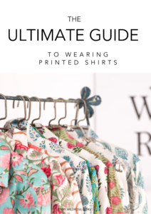 printed shirts on a clothes rail