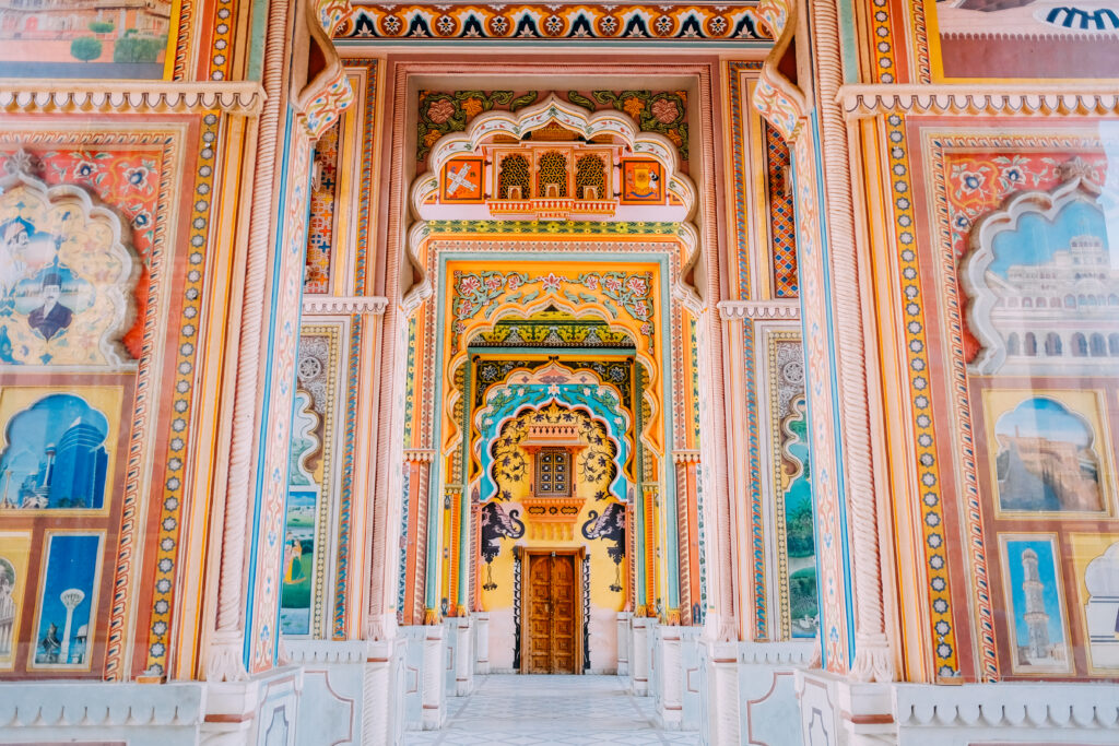 The famous Patrika Gate in Jaipur
